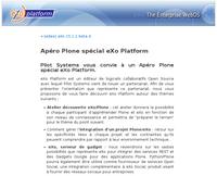 Apéro Plone sur le blog d'eXo Platform