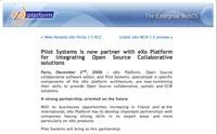 Pilot Systems sur le blog d'eXo Platform
