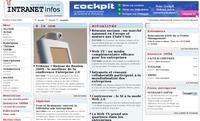 Cockpit, solution de gestion de contacts et d'emailing, sur intranet-infos