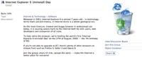 Journée mondiale de désinstallation d'Internet Explorer 6