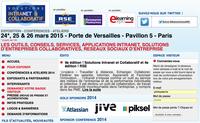 Pilot au salon Solutions Intranet & Collaboratif les 24, 25 & 26 mars 2015