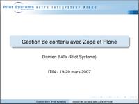 Pilot Systems introduit Python, Zope et Plone à l'ITIN