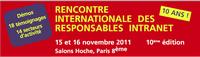Pilot Systems aux Rencontres Internationales des Responsables Intranet 2011 les 15 et 16 novembre 2011