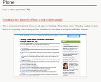 Des tutoriaux pour construire un thème Plone