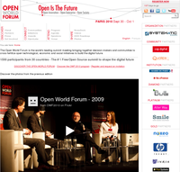 Pilot Systems, sponsor de l'Open World Forum, lance la nouvelle version du site internet